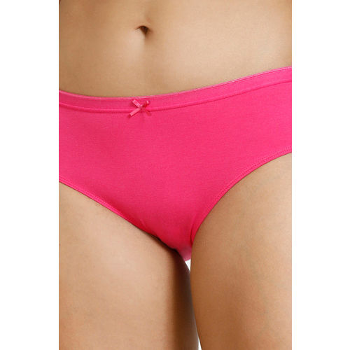 Zivame Anti-Microbial Low Rise Hipster Panty (Pack of 2 ) - Pink Cherry