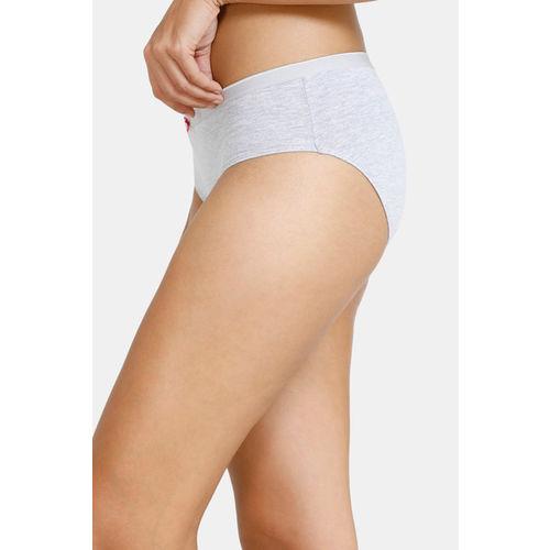 Zivame (Pack of 2) Bikini Low Rise Anti-Microbial Panty - Pacific Grey