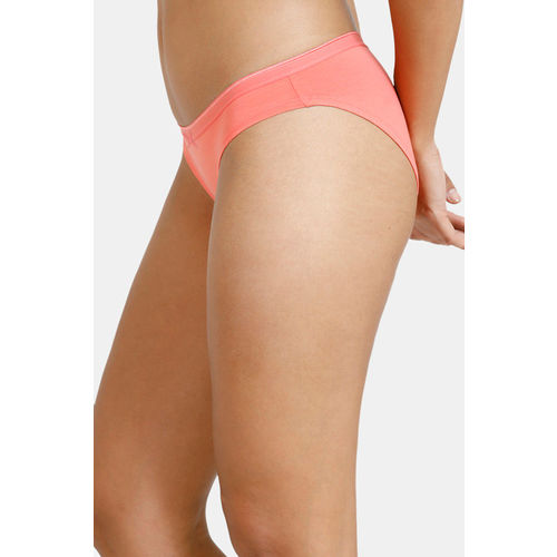 Zivame (Pack of 2) Bikini Low Rise Anti-Microbial Panty - Orange Peach