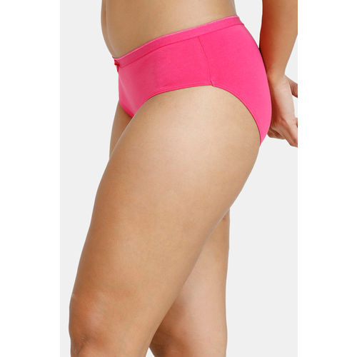 Zivame Anti-Microbial Low Rise Hipster Panty (Pack of 2 ) - Pink Purple