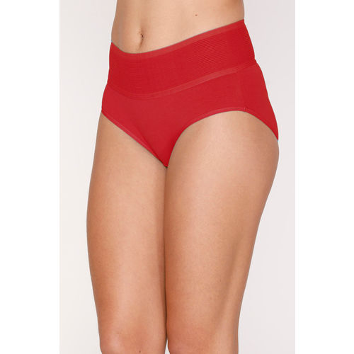 Zivame (Pack of 2) Tummy Tucker Hipster High Rise Anti-Microbial Panty - Red Peach