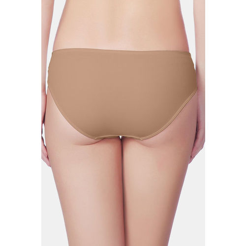 Amante Low Rise 3/4th Coverage Casual Chic Bikini Panty - Beige