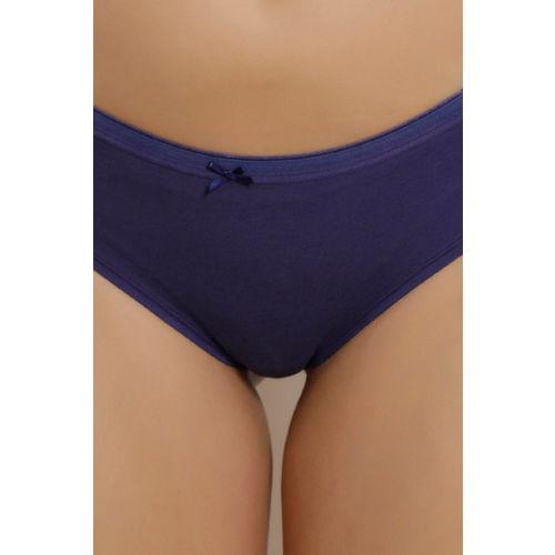 Zivame Anti-Microbial Mid Rise Hipster Panty (Pack of 3)- Blue N Grey N Print