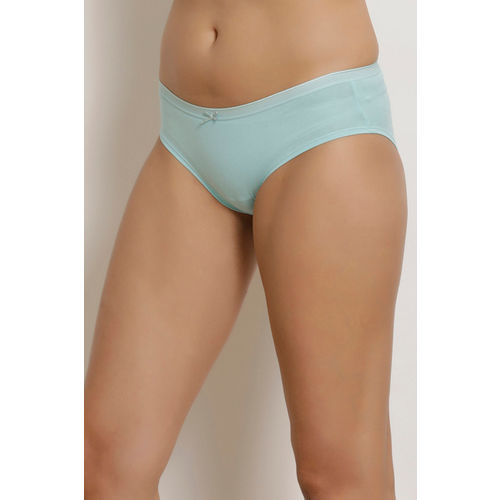 Zivame Anti-Microbial Low Rise Hipster Panty (Pack of 3)- Aqua Sky Blue Print
