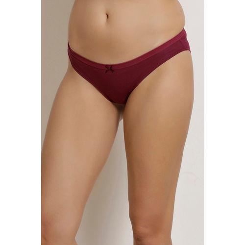 Zivame (Pack of 3) Bikini Low Rise Anti-Microbial Panty - Purple Blue Grey Print