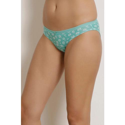 Zivame (Pack of 3) Bikini Low Rise Anti-Microbial Panty - Blue Grey Print