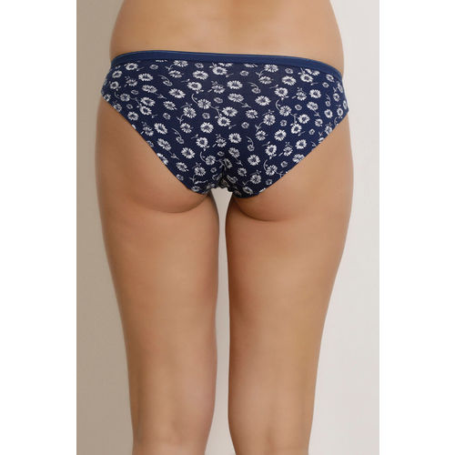 Zivame (Pack of 3) Hipster Low Rise Anti-Microbial Panty - Pink Blue Coral