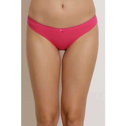 Zivame (Pack of 3) Bikini Low Rise Anti-Microbial Panty - Purple Pink Blue Print