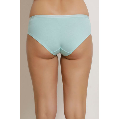 Zivame (Pack of 3) Bikini Low Rise Anti-Microbial Panty - Coral Aqua Sky Print