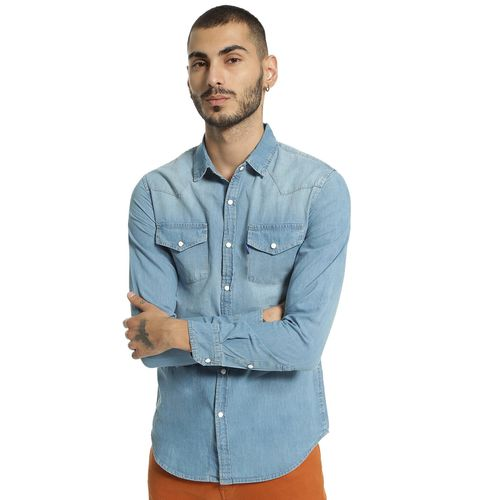 Blue Saint Light Wash Denim Shirt