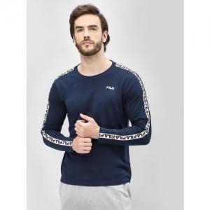 Fila Logo Tape Long Sleeve T-Shirt