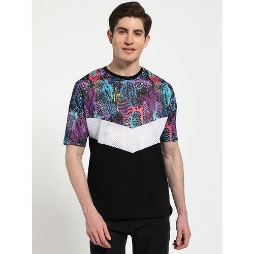 KOOVS Animal Print Collage Chevron T-Shirt