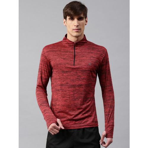 HRX by Hrithik Roshan Men Rust Red Printed T-shirt