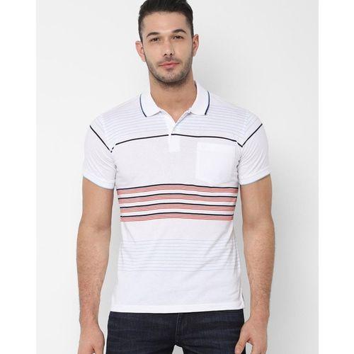 ALLEN SOLLY Striped Polo T-shirt