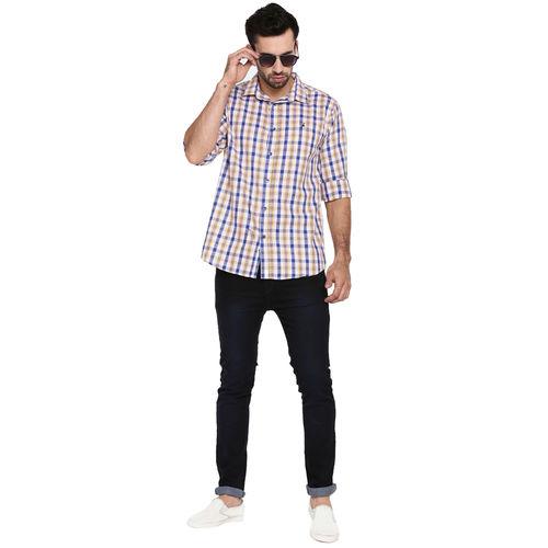 Khoday Williams Men's Multi Cotton Checked Casual Shirt