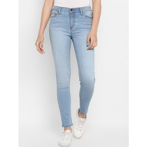 Mode by Red Tape Women Blue Skinny Fit Mid-Rise Clean Look Jeans