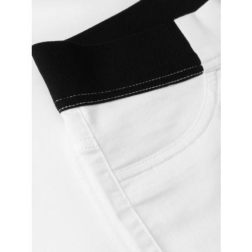 Marks & Spencer Women White Solid 3/4th Length Treggings