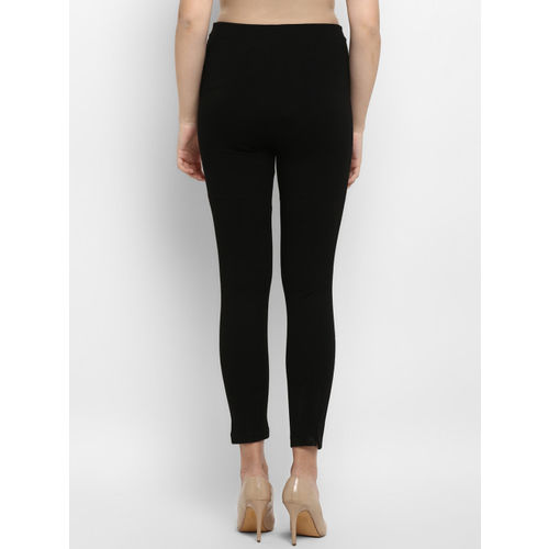 Mode by Red Tape Women Black Solid Slim Fit Treggings