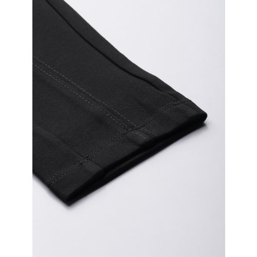 Ms.Taken Women Black Solid Slim Fit Treggings