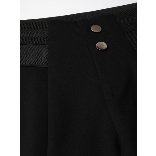 Kraus Jeans Women Black Solid Treggings