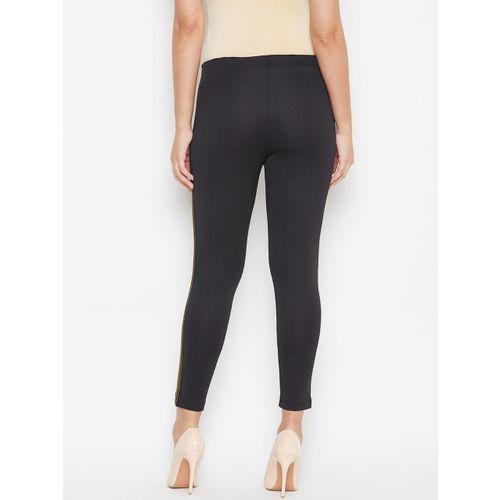 Austin wood Women Black Solid Slim-Fit Treggings