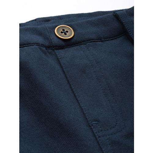 Ms.Taken Women Navy Blue Slim Fit Solid Treggings