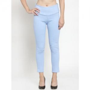 Everlush Women Blue Solid Slim-Fit Denim Treggings