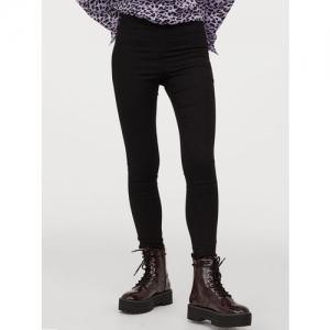 H&M Women Black Solid Treggings