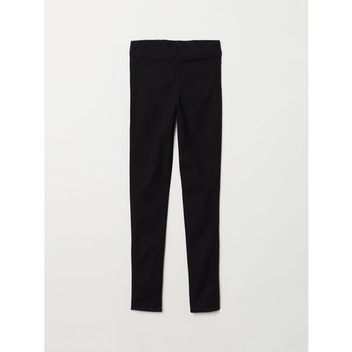 H&M Women Black Solid Treggings