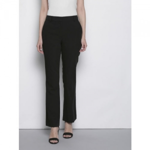 DOROTHY PERKINS Women Black Boot Leg Solid Formal Trousers