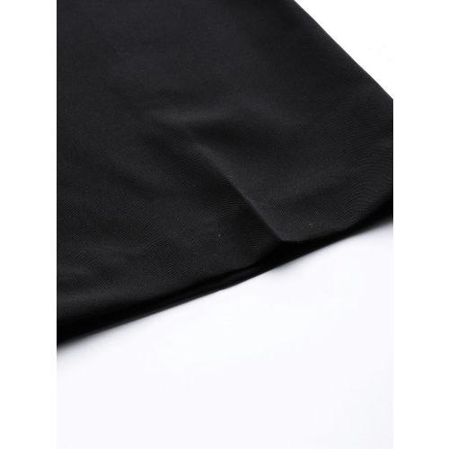 DOROTHY PERKINS Women Black Boot Leg Solid Formal Trousers