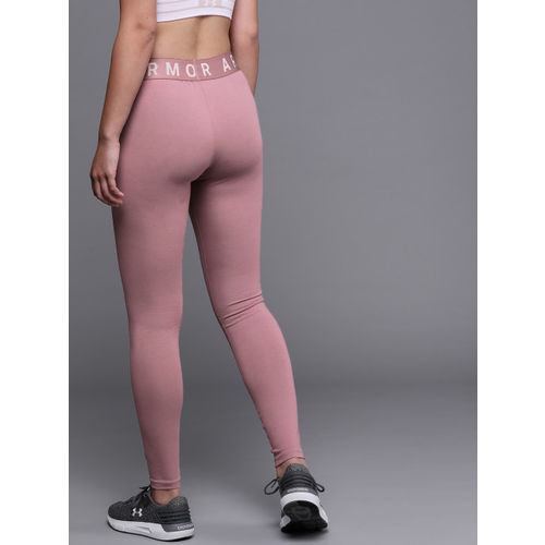 UNDER ARMOUR Women Mauve Solid Favorite Graphic Tights
