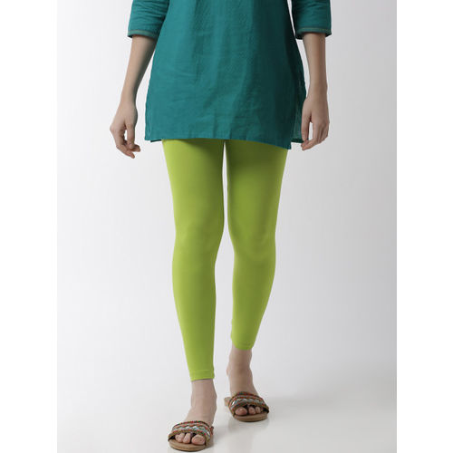 De Moza Women Lime Green Solid Ankle-Length Leggings