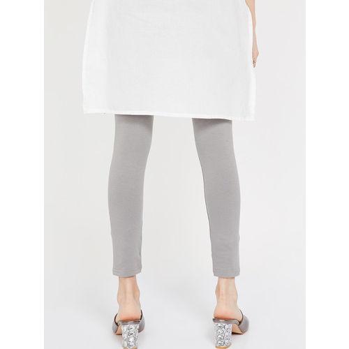 Melange by Lifestyle Women Grey Solid Ankle-Length Legging