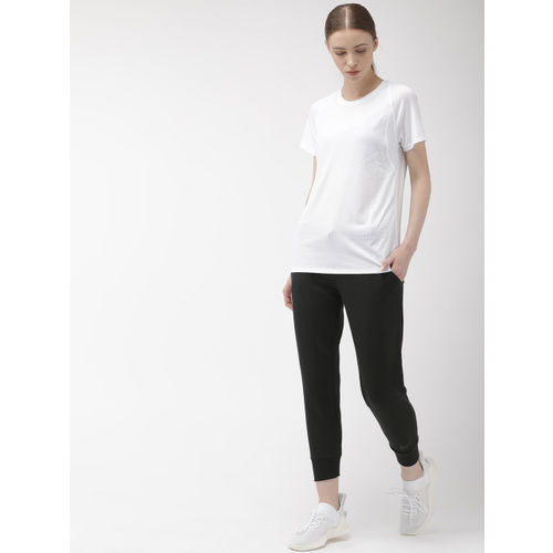 Nike Women Black Solid Straight Fit AS W NK ENDRNCE TPRD Dri-Fit Cropped Training Joggers