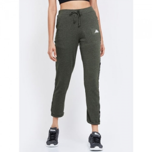 Kappa Women Olive Green Solid Track Pants