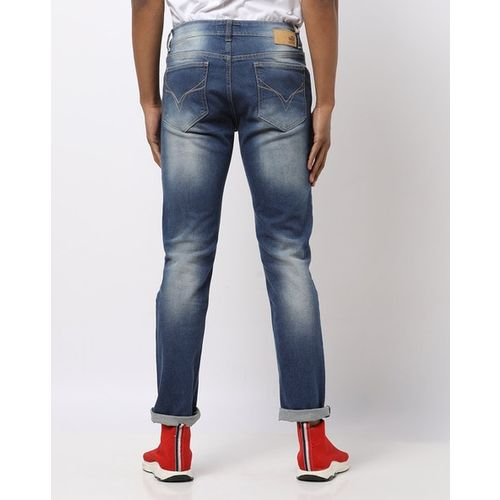 FLYING MACHINE Michael Mid-Wash Slim Tapered Jeans