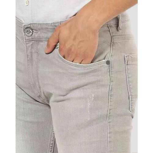 JOHN PLAYERS Light Washed Skinny Fit Jeans with Distress