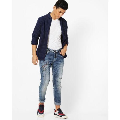 SPYKAR Skinny Fit Washed Jeans