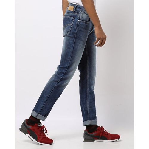 FLYING MACHINE Michael Washed Slim Fit Tapered Jeans