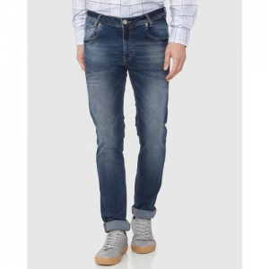 MUFTI Lightly Washed Mid-Rise Slim Fit Jeans