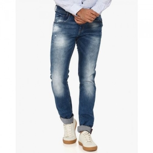 MUFTI Mid-Wash Distressed Jeans