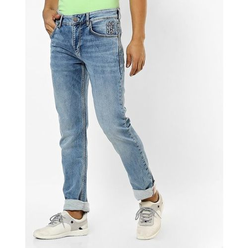 JOHN PLAYERS Skinny Fit Washed Jeans