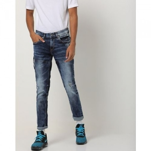 SPYKAR Low-Rise Panelled Skinny Distressed Jeans