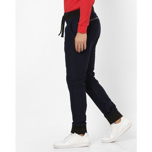 UNITED COLORS OF BENETTON Mid-Rise Joggers with Drawstring Fastening