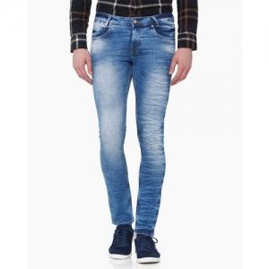MUFTI Mid-Wash Skinny Jeans