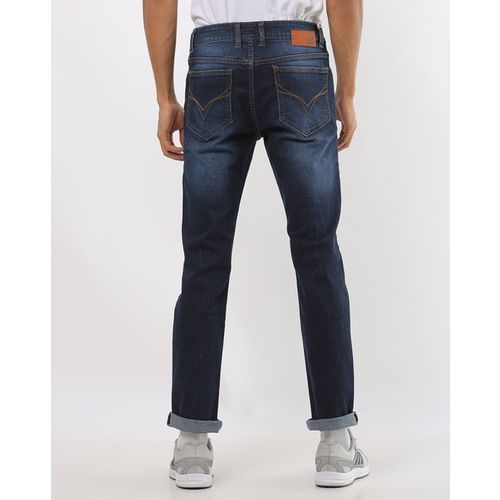 FLYING MACHINE Washed Slim Fit Jeans with Whiskers
