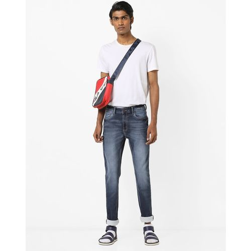 DNMX Slim-Fit Mid-Rise Washed Jeans
