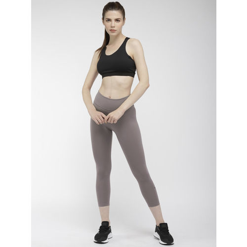 Nike Women Grey Regular Fit Solid Dri-Fit AS W Training Capris