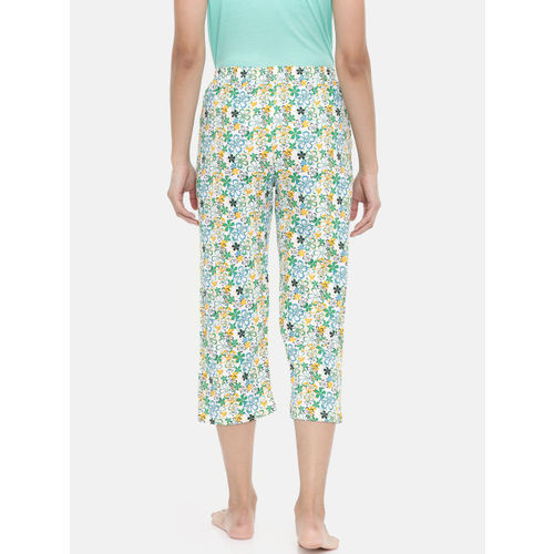 zebu Women Blue & White Printed Regular Fit Capris 299_1ZW_CCC_PRI_PET_XL